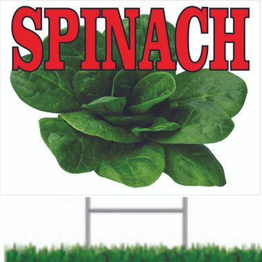 Nice and Colorful Spinach Road Sign.