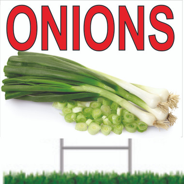 Bring In Customers By Displaying Onions & Other Produce Signs.