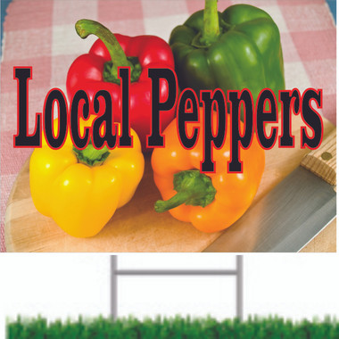 Very Colorful local Peppers Road Sign Brings In New Customers.