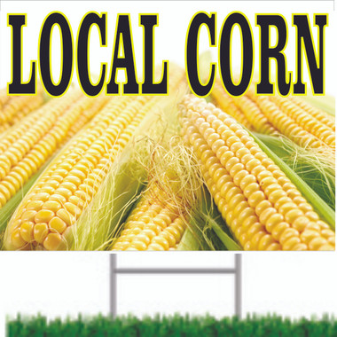 Local Corn Road Sign Bring In Customers to Your Market.