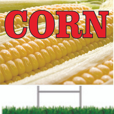 Get Customer to Stop In With This Corn Road Sign.