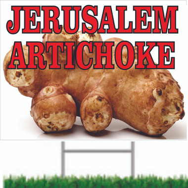 Jerusalme Artichokes Road Signs Informs Customers.