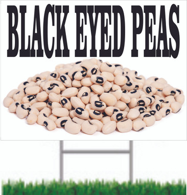Black Eyed Peas Road Sign Is Different & Stands Out.
