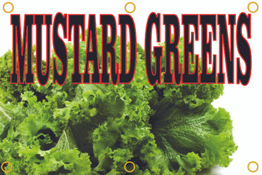 Mustatd Greens Banner Let Customer Know You Have Local Produce.