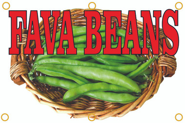 Bring In Customers with This Fava Beans Banner.
