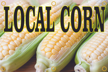 Local Corn Banner Get You Notice.