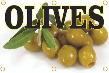 This Olives Banner will get you noticed and bring in new customers.