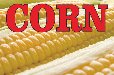 Nice Colorful Corn Banner that Helps Bring in Customers.