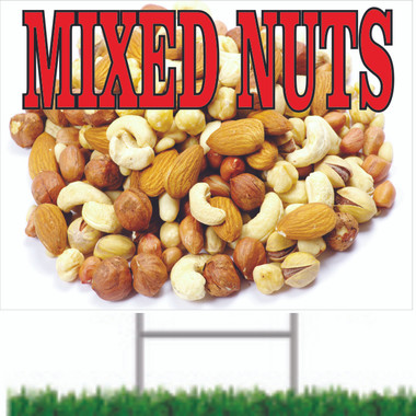 Mixed Nuts Road Sign is A Nice Colorful Sign That Gets Noticed.