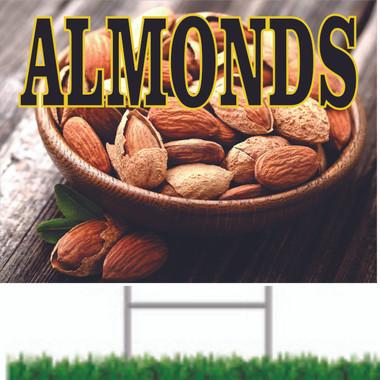 Nice Looking Almonds Road Sign Brings In Customers.