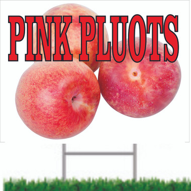 Pink Plouts Road Sign is Very Colorful.
