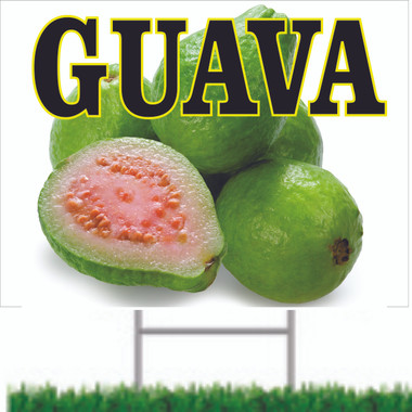 Guava Road Sign is Very Colorful.