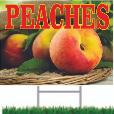 Peaches Road Sign Is Very Colorful & Always Get Noticed
