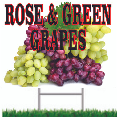 Invite New Customer to Stop Into Your Market with Grapes & Other Fruit Road Signs.