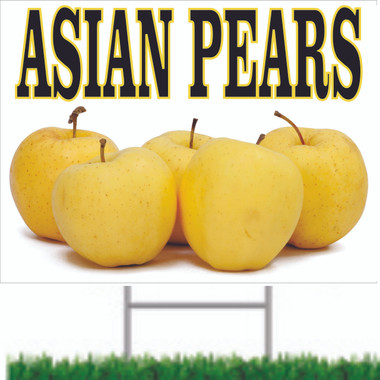 Great Looking Asian Pears Road Sign.