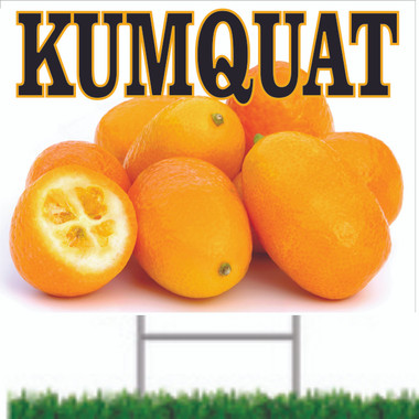 Kumquat Road Sign is Very Colorful.
