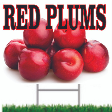 Red Plums Road Sign is A Very Inviting Sign.