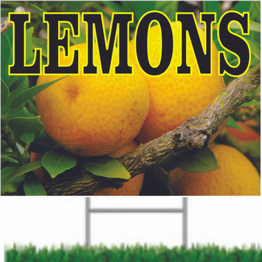 Very Colorful Lemons Road Signs Helps Get You Noticed.