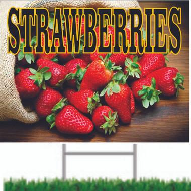 Nice strawberries road sign.