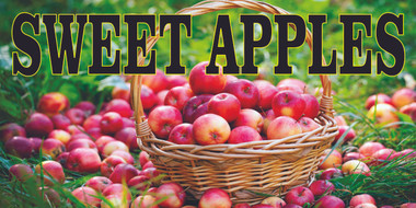 Very Nice Looking Sweet Apples Banner that will Get Noticed.