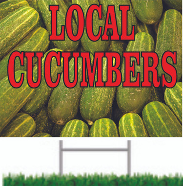 Let Customers Know You Have Local Cucumbers.