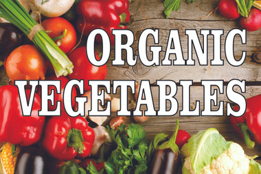 Nice Looking Organic Vegetable Banner Gets You Noticed.