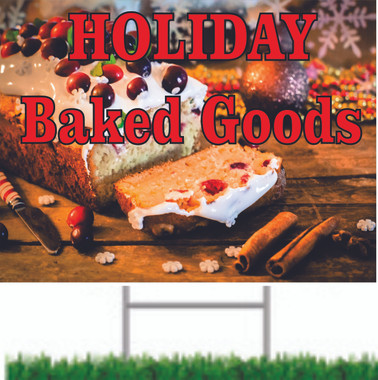 Hoiliday Baked Goods Two Sided Road Sign SY 709