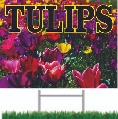 Tullips Two Sided Road Sign SY 888