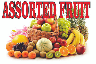 Assorted Fruit Banner is a Very Colorful Banner.