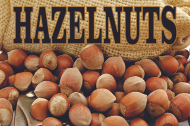 Hazelnut Banner, Nut Banners & Signs, Fruit & Nut Banners & Signs, Produce Banners