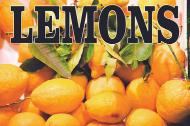 Lemons Banner is bright & colorful.