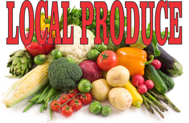 Local Produce Banner In Full Color Gets Noticed.