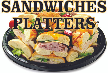 Deli Sandwiches Platter Informs Customer You Make Party Platters.