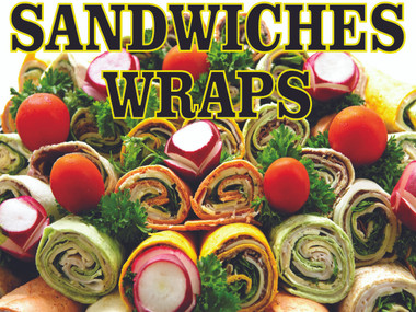 Sandwich Wraps Banner by Stop The Traffic one of Many Deli Banners that Help Bring In New Customer.