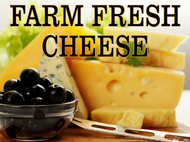 Farm Fresh Cheese Banner In Beautiful Color.