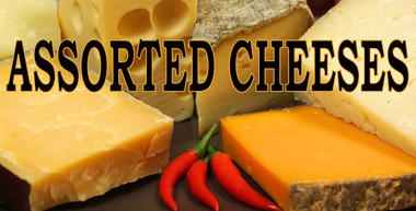 Assorted Cheeses Banner.