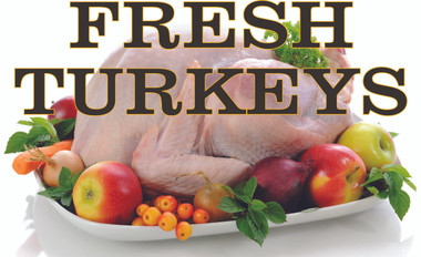 Fresh Turkeys Banner nice and Colorful.