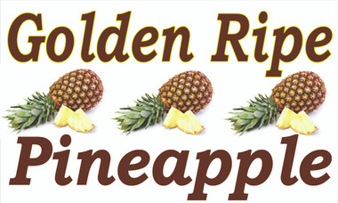 Golden Ripe Pineapple Banner Get Noticed.