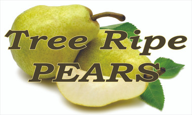Tree Ripe Pears Banner is Very Colorful and Get You Noticed.
