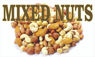 Mixed Nuts Banner if you sell nuts let potential customer know.