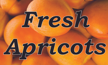 Fresh Apricots In Full Color Gets Noticed By Passing Traffic.