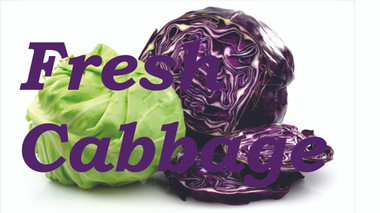 Fresh Cabbage Banner is a Very Colorful Banner that Draws Attention.