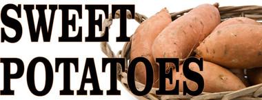 Sweet Potatoes In Basket.