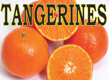 Tangerines Highly Visible Bright Orange Banner..