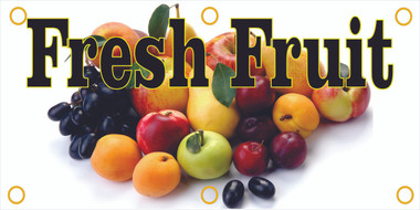Fresh Fruit Banner Draws Customer Into Your Market.
