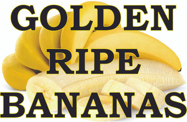 Fruit Banner - Golden Bananas Sure to help Get you Noticed.