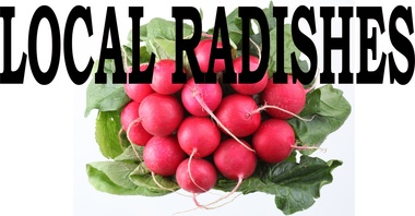Radishes Vivid Life Like Color Draws Customers In.