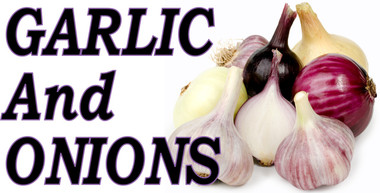 Outstanding Color  in this Garlic & Onions Banner Gets Noticed!