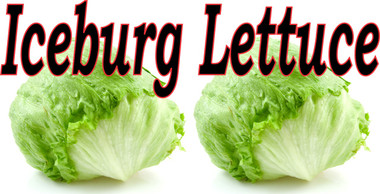 Iceberg Lettuce Banner Draws Attention to Your Market!