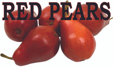 Fruit Banner- Red Pears Bright Color Get You Very Noticed.